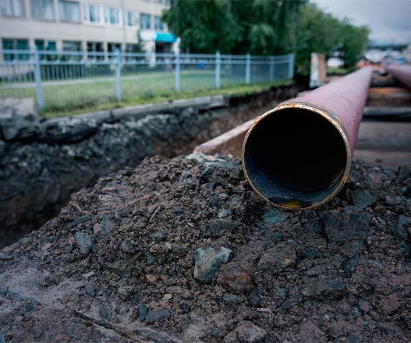 new sewer line installation