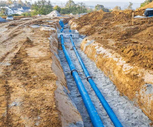 trenchless water line installation near me