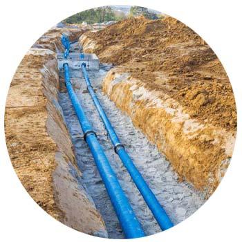 sewage pipe burst